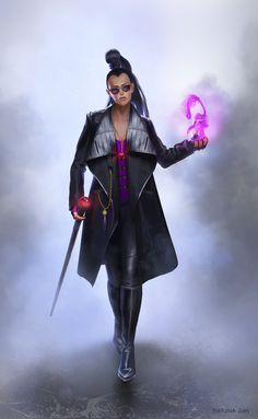 Modern Witch by Marina Beldiman on ArtStation. Fantasy Inspiration, Character Inspiration, Character Art, Character Reference, Character Ideas, Witch Aesthetic, Aesthetic Fashion, Fantasy Characters, Dnd Characters