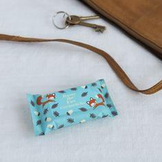 Rusty The Fox Mini Wet Wipes | dotcomgiftshop | Winter Sale Now On