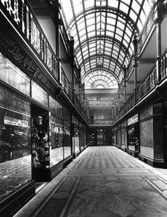 Lord street arcade - built in 1901. The facade of this building is still there. I love arcades!