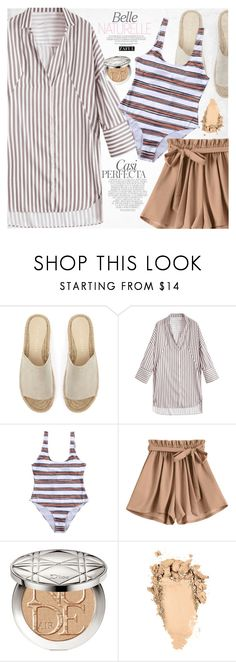 """""""Stripes"""" by vanjazivadinovic ❤ liked on Polyvore featuring Whiteley, Mint Velvet, Christian Dior, polyvoreeditorial and zaful"""