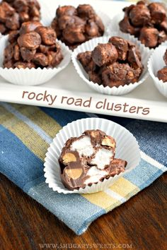 Rocky Road Clusters combine chocolate, marshmallows, and peanuts for one amazing candy. Cravings, solved!