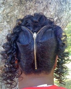 Zipper in Hair, Funny Haircuts, Bad Hair styles, worst hair, fashion fails Bad Hair Day, Mode Bizarre, Poorly Dressed, Ghetto Fabulous, Back In The Game, Fashion Fail, Crazy Fashion, Moustaches, Crazy Hair