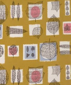 [Lucienne Day] One of my favourite mid-century textile designers. Very original style to the patterns.