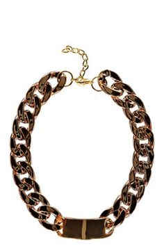 Hannah Chain ID Necklace. - wonderful color, great chunkiness - the angled piece in front is a plus. This won't work for every Tone III - many of us need all of our jewelry to create a V-neck. This may depend on your secondary.