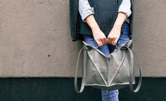 ::swoon:: what a stunning handbag found at @Of a Kind GRAY MULTIFOLD BAG by Imago-a