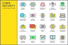 Awesome Cyber Security Icons by Ckybe's Corner on @creativemarket