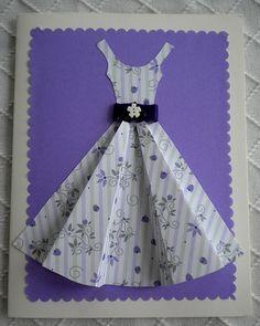 Paper Dress Template   Cute Dress Card Template