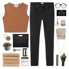 """""""swimming pools"""" by nothing-like-the-rain ❤ liked on Polyvore featuring Acne Studios, WoodWick, Nearly Natural, Tobi, CASSETTE, GHD, Samuji, Aesop, Fig+Yarrow and Linum Home Textiles"""