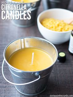 DIY Homemade Citronella Candle