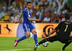 Six minutes from time, Vedad Ibisevic nips the ball through the keeper's legs and gives Bosnia a lifeline