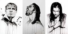 The Shield: Dean Ambrose (L), Seth Rollins (M) and Roman Reigns (R) Credit Linda@SkyHighStudios