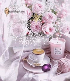 Good Morning Gif, Good Morning Friends, Beautiful Gifts, Beautiful Things, Goeie More, Animation, Beautiful Gardens, Table Decorations, Rose