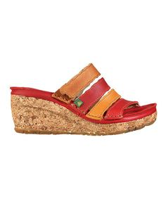 Look at this #zulilyfind! Red Cork Leather Wedge - Women #zulilyfinds