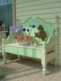 country shabby chic bench