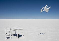 "Gray Malin - ""White Table and Chairs"" | #graymalin #maisongray"