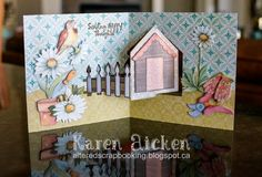 Altered Scrapbooking: Garden Shed House Pivot Card