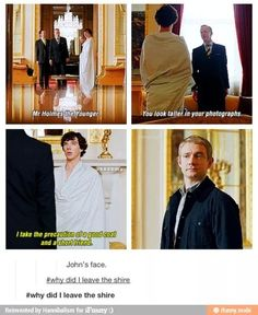 """Johns face clearly says """"I see dat booty Sherlock...I see it"""""""