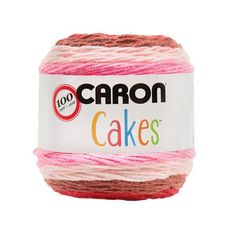 Caron Cakes Self Striping Yarn 383 yd 200 g (Cherry Chip) Free Crochet Patterns Featuring Caron Cakes Yarn Caron Cake Crochet Patterns, Caron Cakes Crochet, Crochet Cake, Crochet Crafts, Free Crochet, Yarn Crafts, Learn Crochet, Knitting Patterns, Crotchet Patterns