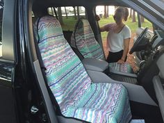 Seat Hoody Post-Workout Car and Truck Seat Cover Protector. After a Workout, Hot Yoga, Beach Seat Protection - Aqua Arrow Truck Seat Covers, Dark Blue Living Room, Car Themes, Diy Car, Cute Cars, Hot Yoga, Post Workout, Jeep Wrangler, Fitness Fashion