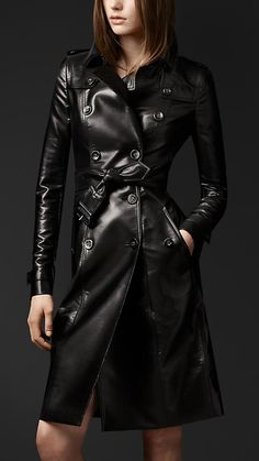 Burberry Prorsum Metallic Trench Coat