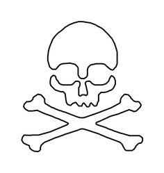 Skull and crossbones pattern. Use the printable outline for crafts