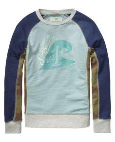 Mix & match sweater met ronde hals | Sweat | Jongenskleding bij Scotch & Soda
