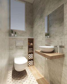 37 Space Saving Toilet Design for Small Bathroom Secrets homedecorsdesign Small Downstairs Toilet, Small Toilet Room, Guest Toilet, Downstairs Bathroom, Bathroom Layout, Cloakroom Toilet Small, Gold Bathroom, Bathroom Wall, Bathroom Design Luxury