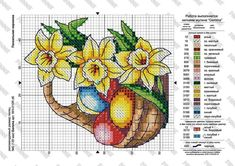 Cross Stitch Embroidery, Cross Stitch Patterns, Easter Cross, Christmas Cross, Happy Easter, Free Pattern, Alphabet, Diy And Crafts, Crossstitch