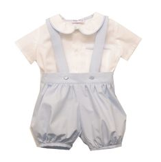 William Shirt & Romper Pants. This baby boys outfit is ideal for any special occasion such as christening