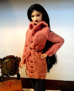DARN DUSTY ROSE three quarter coat sweater by RFBdesignsbyPeggy, $20.00