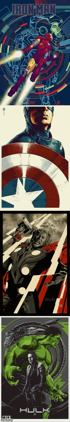 Amazing Avengers posters.