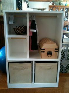 American Girl Doll Armoire (can put doll and hang clothes up. Later use as a book case? Free plans to build it. American Girl Storage, My American Girl Doll, American Girl Crafts, American Girl Clothes, Doll Closet, Doll Wardrobe, Ag Dolls, Girl Dolls, Doll Storage