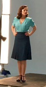 "Margaret ""Peggy"" Carter. Agent Carter Season 2 Outfit. 1940s 1950s"