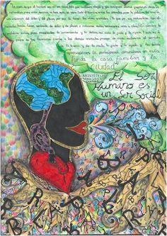 Ilustración de Lucía García sobre un texto de Aristóteles. Política Libro I, cap II. ©