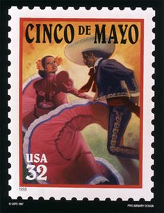 USA postage stamp images through the years.