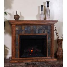 """Check out the Sunny Designs 3486RO-50R Sedona 50"""" Fireplace Media Console in Rustic Oak priced at $647.50 at Homeclick.com."""