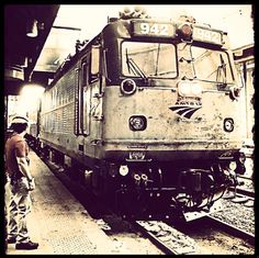 All aboard the vintage Amtrak train! Thanks, Debbyann, for making this train photo even better!