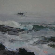 Artists Of Texas Contemporary Paintings and Art - Fisherman at Sea