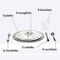 Tableware in italian - Photo| Facebook