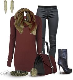 ❤ love this entire outfit! Only Fashion, Girl Fashion, Fashion Looks, Womens Fashion, Autumn Winter Fashion, Autumn Style, Winter Style, Polyvore Outfits, Chic Outfits