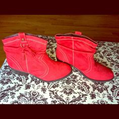 Soda Ankle Boots Bright Red Soda Ankle Boots. Brand New! Size 9. Soda Shoes Ankle Boots & Booties