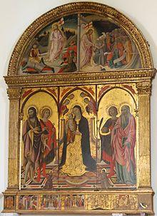 San Quirico d'Orcia (Siena, Toscana) - Collegiata dei Santi Quirico e Giulitta - Trittico di Sano di Pietro.