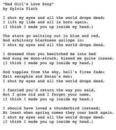 I had this poem up on my wall growing up, along with several others of hers.