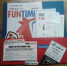 Carnival cruise scrapbook page 5