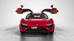 NanoFlowcell Quant F electric sports coupe with gullwing doors to debut in Geneva : Luxurylaunches Ford Motor Company, Ford Focus, Supercars, Cadillac, Flow Battery, Nissan, Chevy, Fuel Cell Cars, Car Fuel