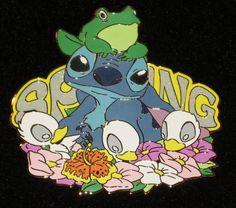 Stitch Spring Sparkle Jumbo Ducks Frog Disney Store com Pin Le 250 New on Card | eBay
