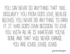 Incredible love of God!