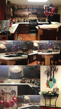 DIY Espresso Gel Stained Cabinets DIY! Kitchen ideas over the cabinets decor grapes and Vines