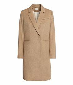 Camel wool-blend coat | H&M US
