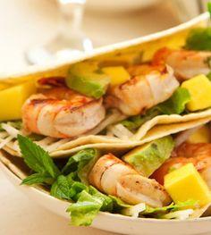 Spicy Prawn, Avo & Mango Tacos
